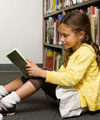 visit the library with the kids