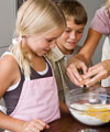 Rainy day baking with kids