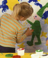 kids mural painting